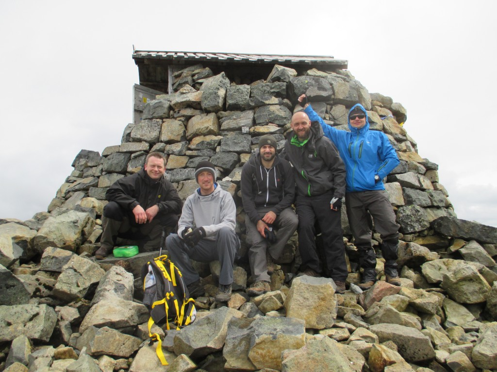 Paul, Matt, myself, Mark, and Marcin at the summit