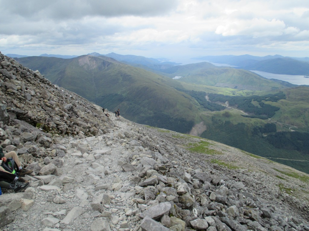 The mountain path of Ben Nevis