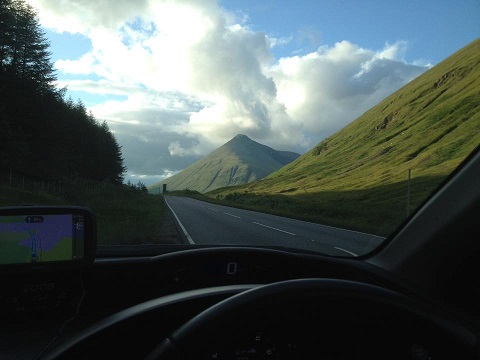 Driving in Scotland is always a pleasure