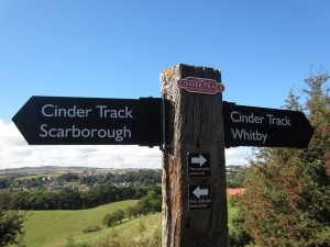The Cinder Track running from Scarborough to Whitby