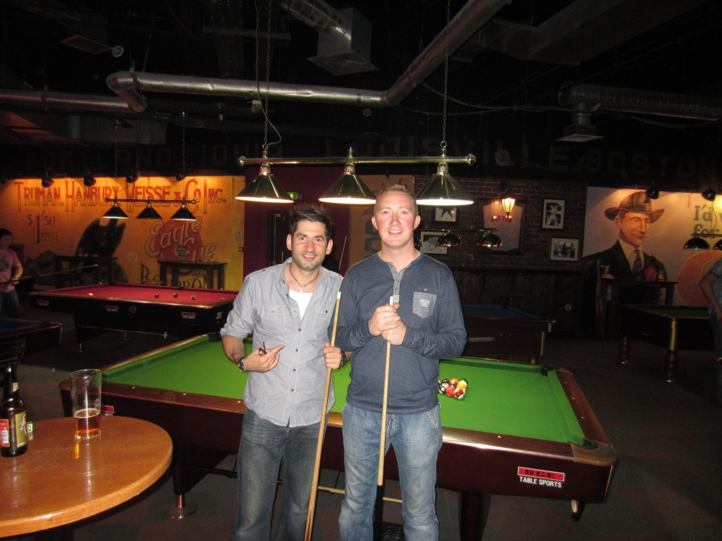 Matt and myself at the pool hall