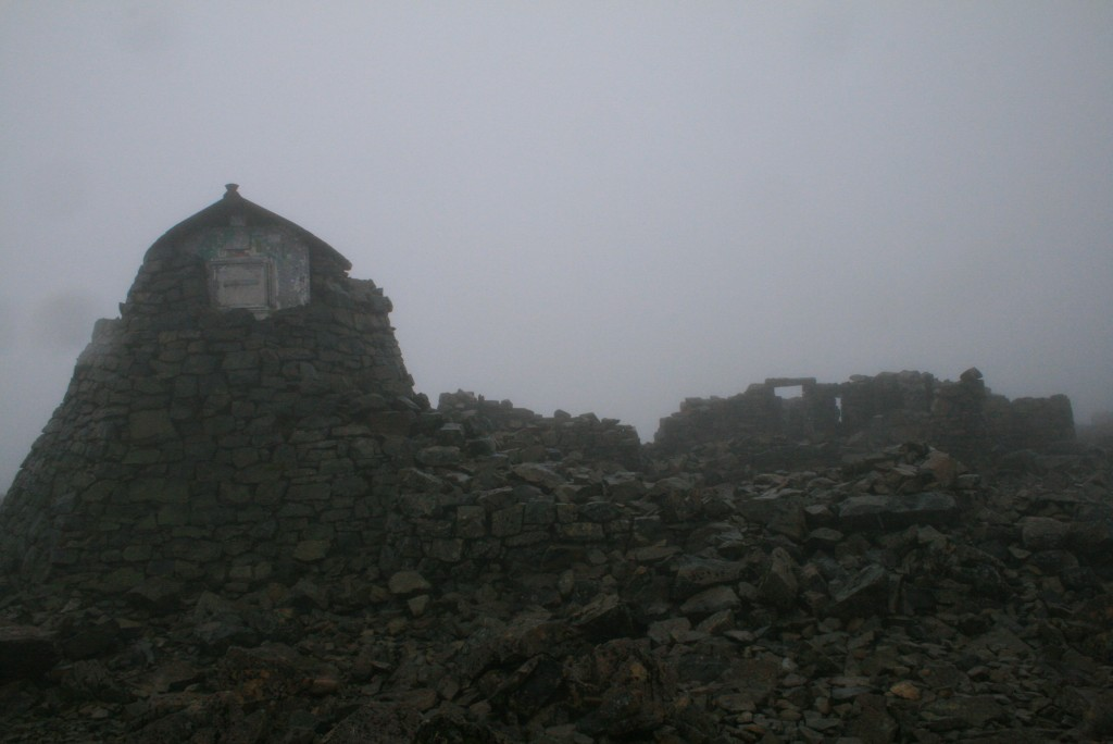 Reaching the summit in 2010 - no views at all