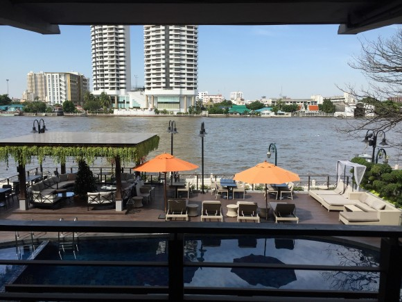 The view out onto the Chao Phraya River