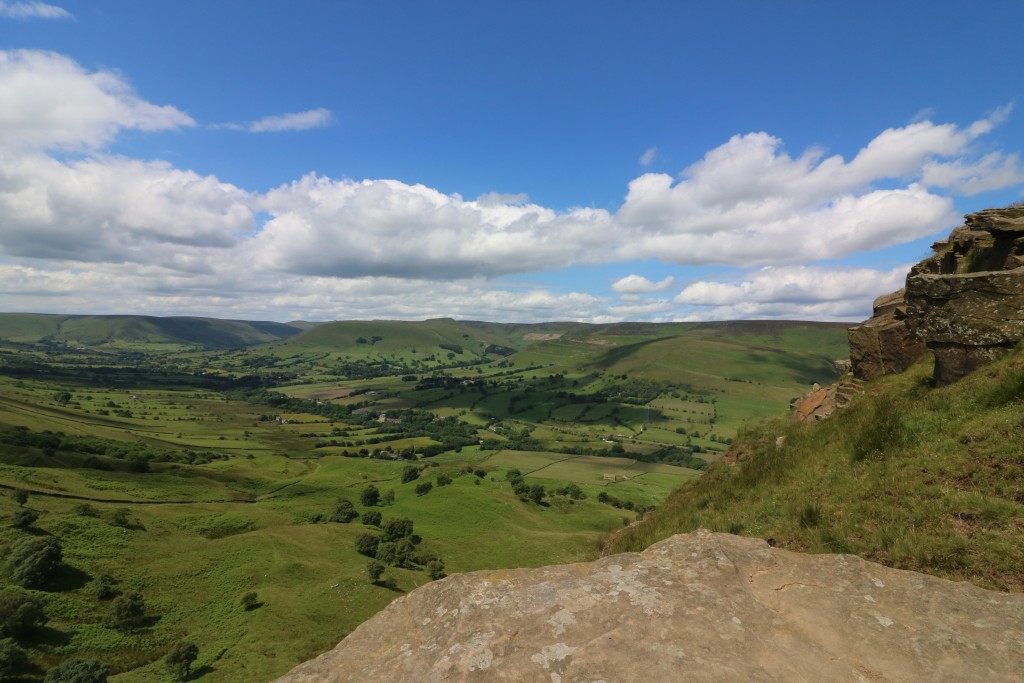 The views over Edale were stunning