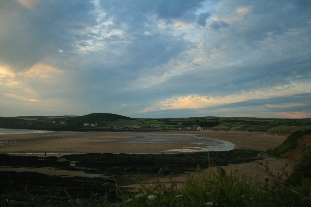 Croyde Bay - as seen from the roadside when entering the village