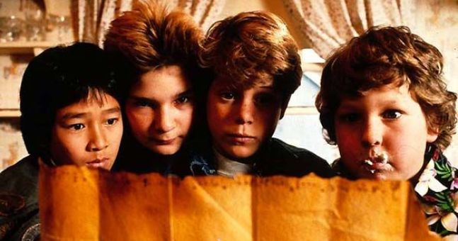 The Goonies plan their trip to Lumsdale Falls
