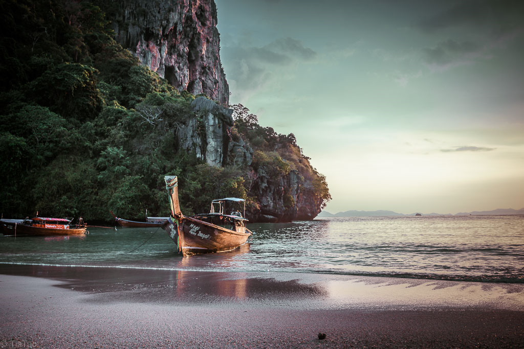 The beautiful Railay at sunset