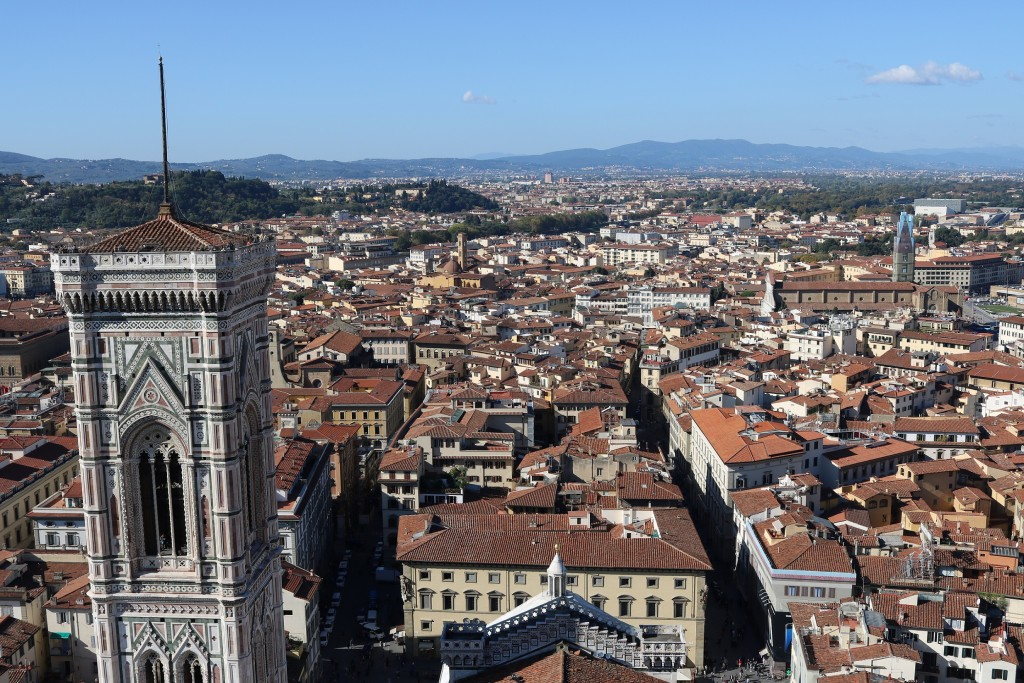 The 360 degree panorama of Florence is remarkable