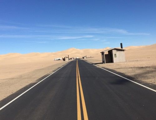 dune at the end of the road