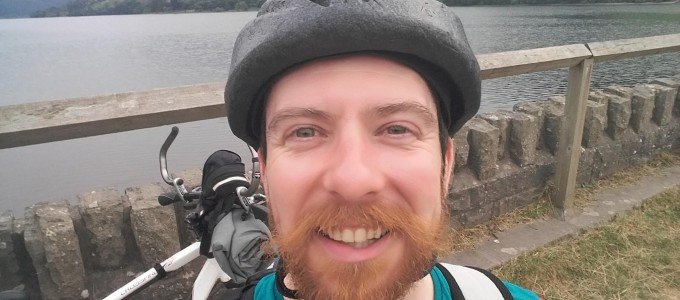 Selfie old bike and helmet' 2016Taff Trail