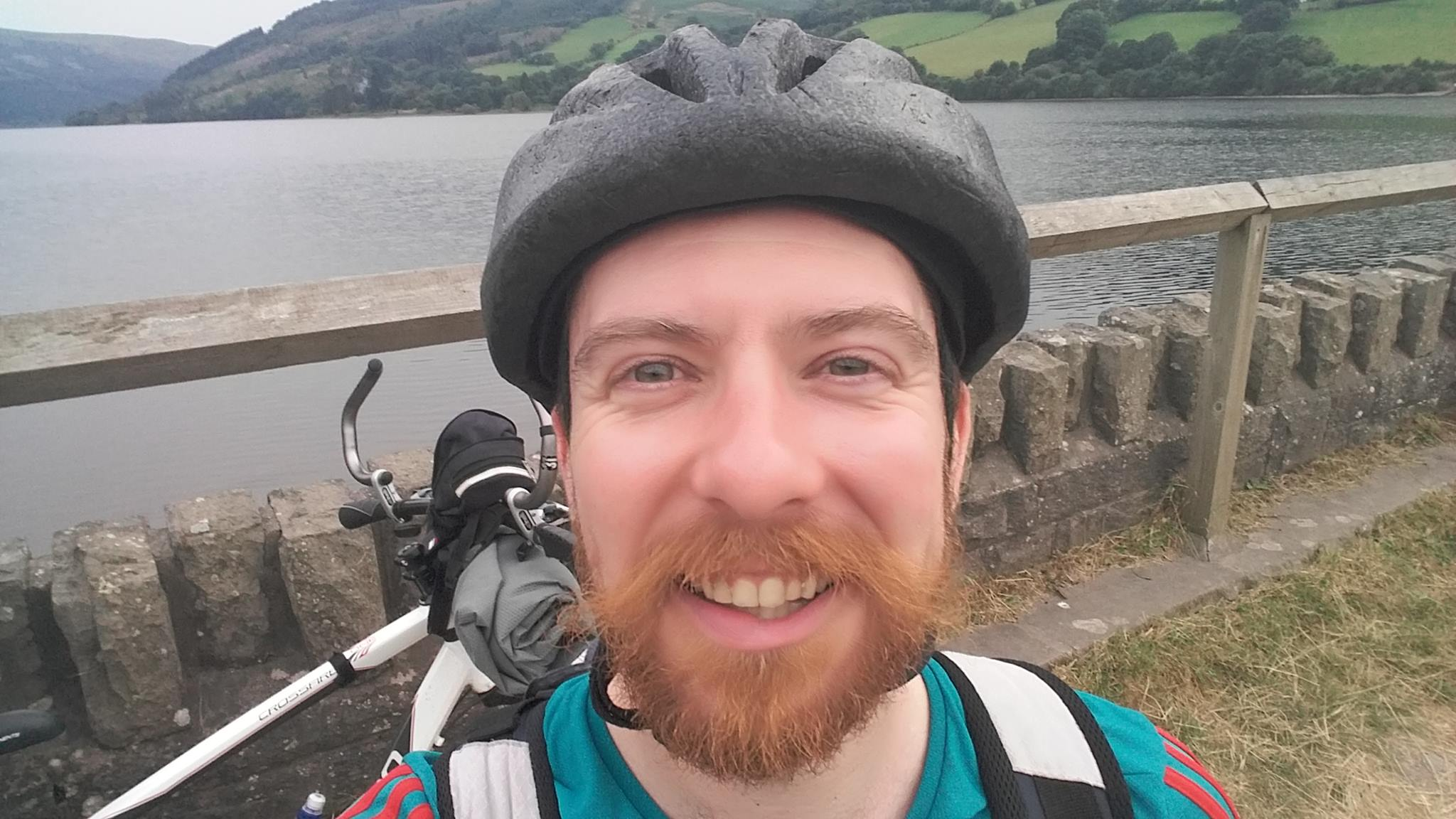 Selfie old bike and helmet' 2016Taff Trail